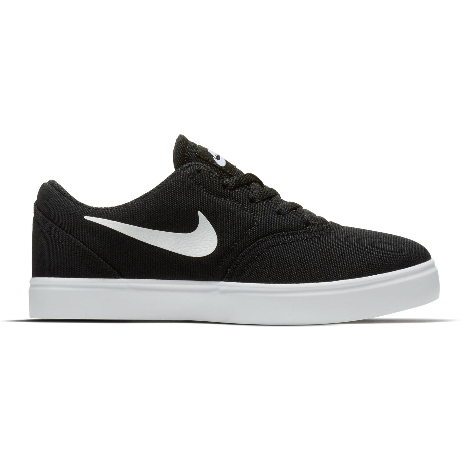 NIKE Shoes Boy Unisex NIKE SB CHECK CNVS, Free And Time Sportwear, Black White