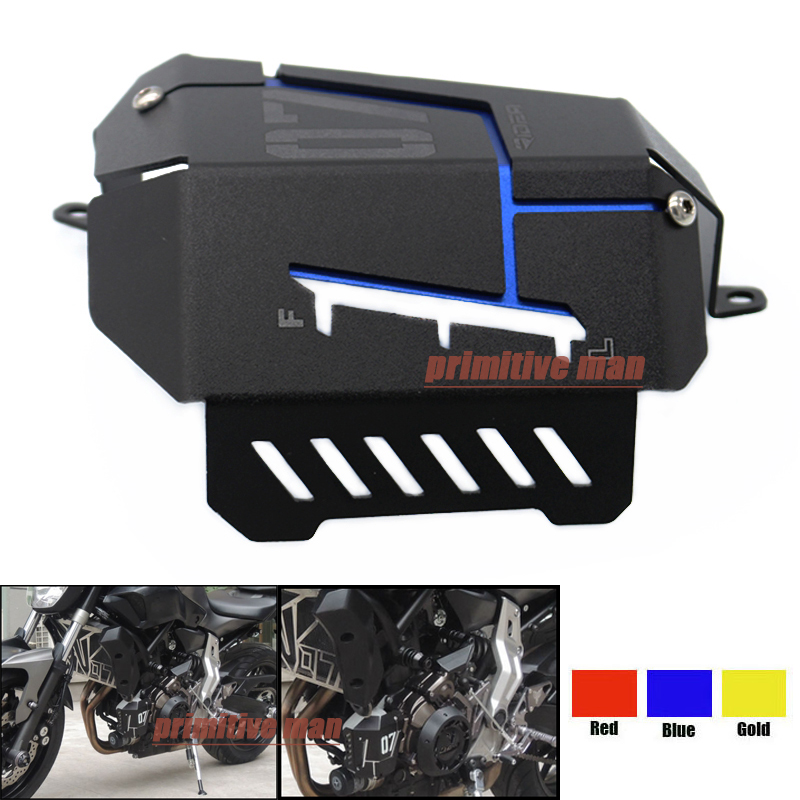 For YAMAHA MT-07 MT07 MT 07 FZ07 FZ FZ-07 2014-2016 2015 Motorcycle Accessories Coolant Recovery Tank Shielding Cover Blue