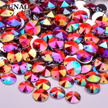 10mm sewing Red Crystal AB Flatback Rhinestones Acrylic Cabochon Strass Sew  On Crystals Stones Round Scrapbook 2382300f5a51