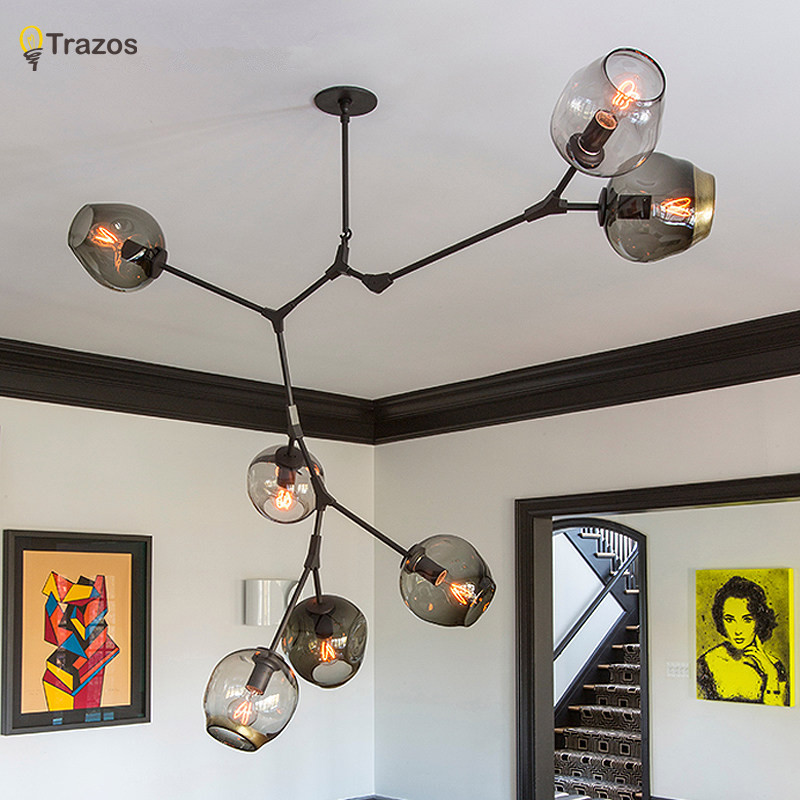 Designer chandeliers in the Nordic idea branches pendent lamp glass ball lamp droplight of post-modern art duncan bruce the dream cafe lessons in the art of radical innovation