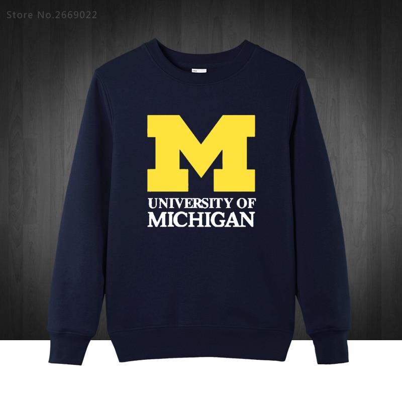 2017 new Michigan University American college baseball s jersey clothing Men's Sweatshirts Printed Men Hoodies Pullover XS-XXL