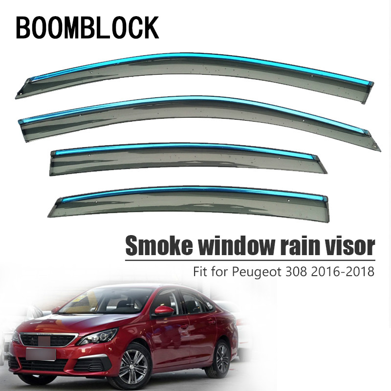 Boomblock 4pcs Car Covers Window Visor Sun Rain Wind