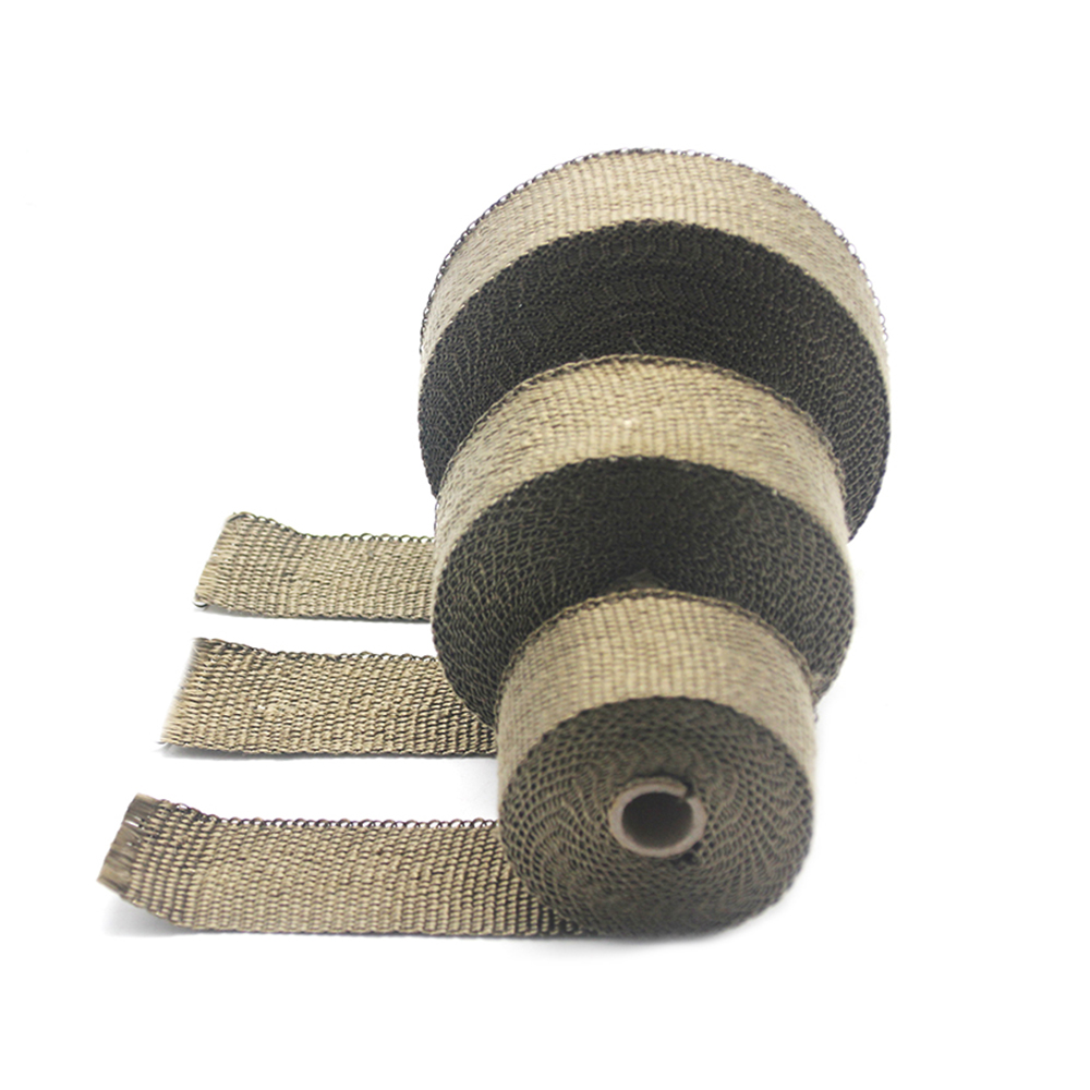 Image 5 - ZSDTRP 5cm*5M 10M 15M Titanium/Black Exhaust Heat Wrap Roll for 