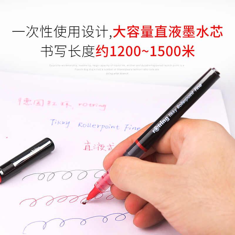 1/3/6/12 sztuk niemcy rotacja pióro kulkowe prosty płyn Gel Pen 0.5mm podpisywanie Pen Student office egzamin