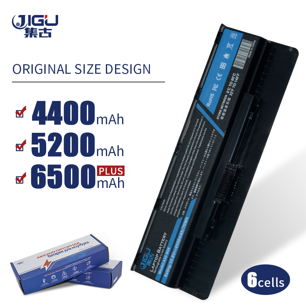 JIGU Laptop <font><b>Battery</b></font> A31-N56 A32-N56 A33-N56 For <font><b>ASUS</b></font> N46 <font><b>N46V</b></font> N46VJ N46VM N46VZ N56 N56VM N76 6CELLS image