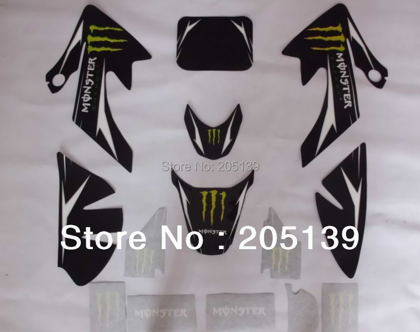 RACING CRF50 3M Monster Graphics Decals Sticker For Honda Moto Dirt Pit Bike XR50 In Stickers From Automobiles Motorcycles On
