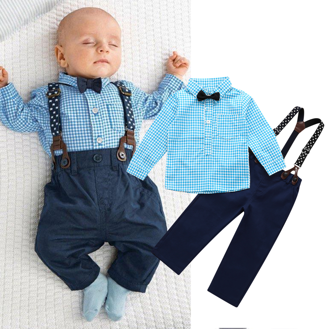 2016  NEW 2PCS Newborn Kids Clothes Set Baby Boys Outfits T-shirt Tops + Long Pants Party Baby Boy Clothes Sets 2pcs newborn toddler infant kids baby boy summer clothes set short sleeve t shirt tops long pants outfits set