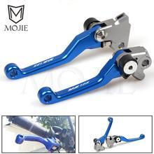 где купить For YAMAHA YZ125 YZ250 YZ426F YZ450F YZ250F YZ 125 250 426F 450F 250F 2001-2007 CNC Pivot Brake Clutch Levers Dirt Bike Blue дешево