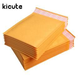 Kicute 50 шт./лот одежда высшего качества Желтый Крафт Пузырь Почтовые ящики мягкие конверты Доставка сумка Self Seal бизнес школы офисны