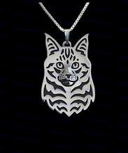 Ожерелье с милым мультяшным котом Мейн енота новые модные украшения