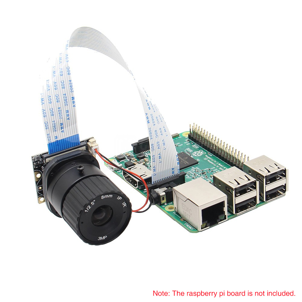 Image 5 - Raspberry Pi Camera / 5MP 8mm Focal Length Night Vision NoIR 