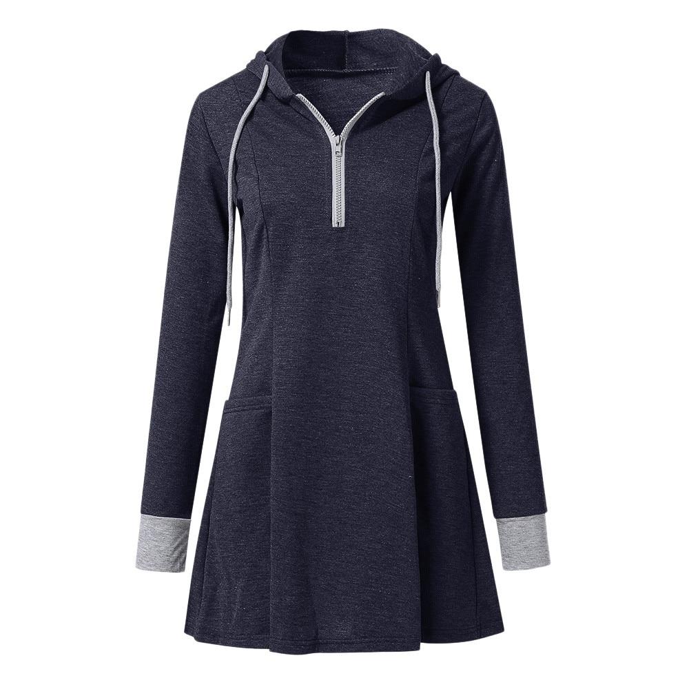 Women Long Sleeve Zip Up Hoodies Ladies Sportwear -2961