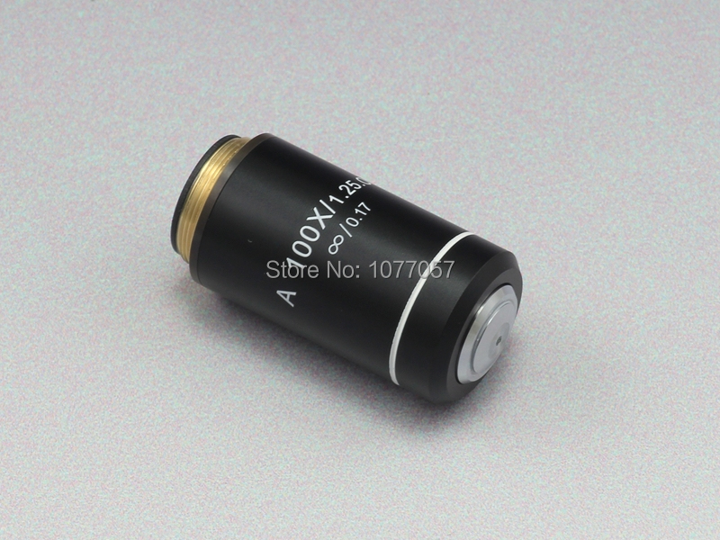 ФОТО Free shipping,100X /1.25mm Oil, UIS Microscope infinite achromatic Objective,suitable  for olympus CX  microscope objective