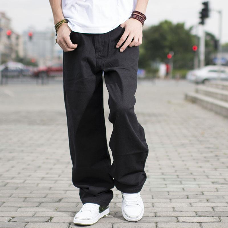 reasonably priced exclusive range classic fit € 33.92 74% de réduction|Hommes Streetwear décontracté ample Fit noir Jeans  homme Hip Hop Jeans hommes coton Baggy Jeans large jambe Denim pantalon ...