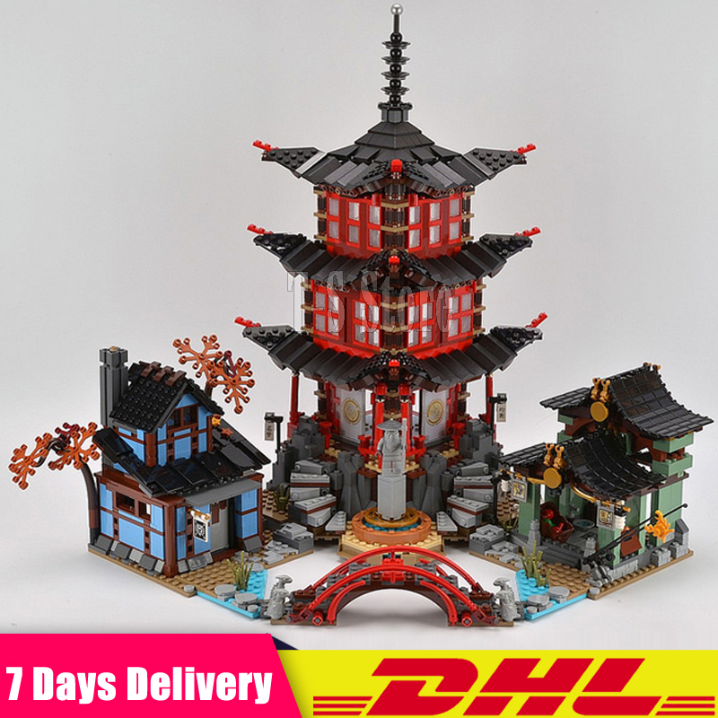 DHL IN Stock LEPIN 06022 2150Pcs Ninja Temple of Airjitzu Jay Kai Cole Building Blocks Bricks Set DIY Toys Fit for 70751 dhl new lepin 06039 1351pcs ninja samurai x desert cave chaos nya lloyd pythor building bricks blocks toys compatible 70596