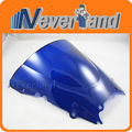 Hot sale Motorcycle Double Bubble Windscreen Windshield For Yamaha YZF R6 1998-2002 98 99 00 01 02 Blue Free shipping C10