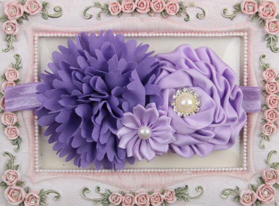 Hair Accessories My Girl 2016 Children peony flowers diamond hair band YH543 in Hair Accessories from Mother Kids