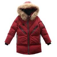 2019 New Baby Boys Winter Coat 5 To 16 Year Hooded Children Patchwork Down Baby Boy Winter Jacket Thicken Warm Outerwear Parkas