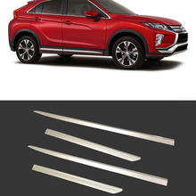 ABS Side Door Body Molding Line Cover Trim Protector Decoration Exterior Accessories 4pcs For Mitsubishi Eclipse Cross 2017-2019