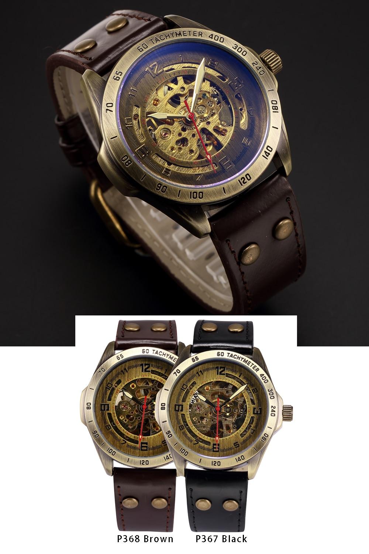 HTB1fgFJP9zqK1RjSZFpq6ykSXXaK Skeleton Mechanical Watch Automatic Watch Men Steampunk Bronze Transparent Mens Automatic Mechanical Watches Clock montre homme