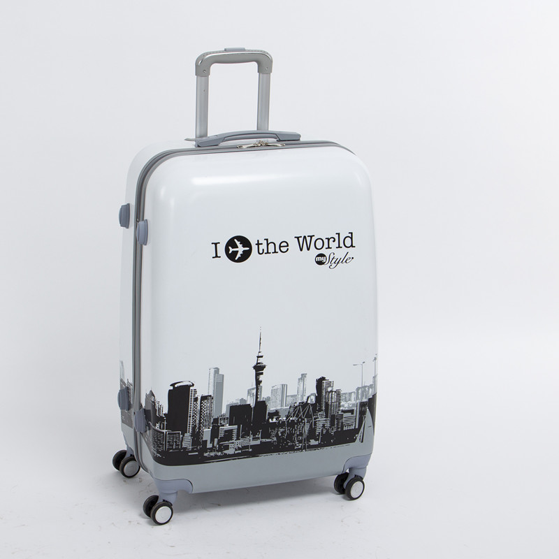 Wholesale!man and woman 28 inch pc the world travel luggage bags on universal wheels,high quality plane printed luggage bags демис руссос man of the world купить