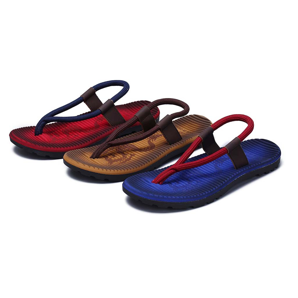 Sandals Slippers Skid-Shoes Flip-Flops Outdoor Men's Casual Beach Flat Fashion Mixed-Colors title=