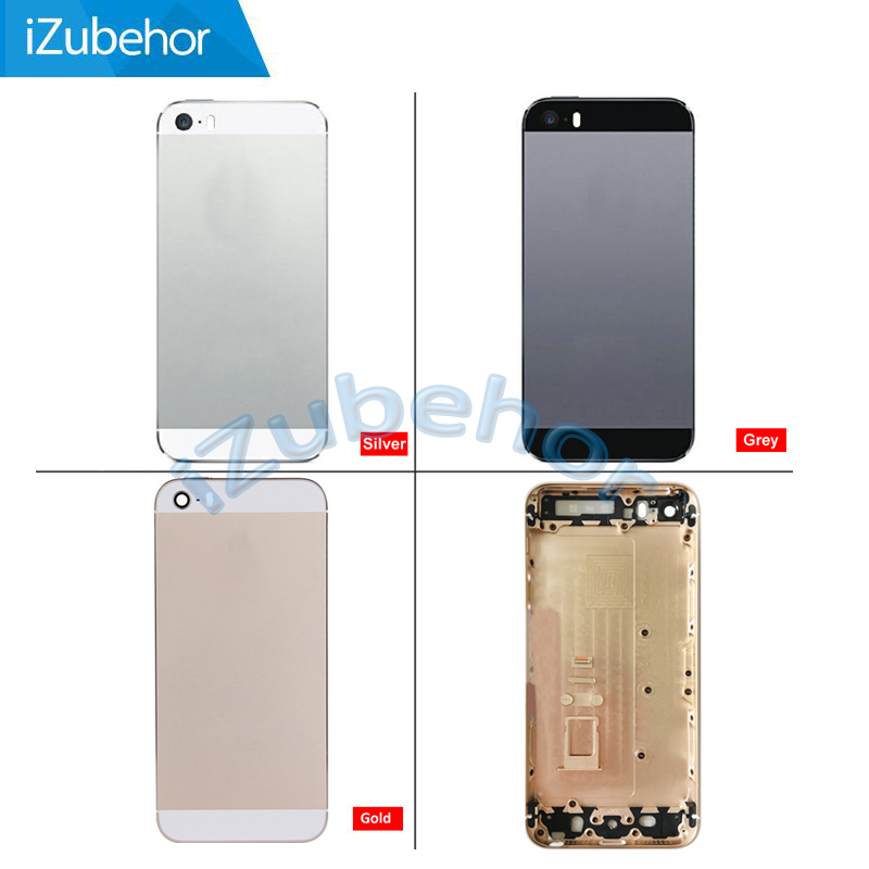 100% warranty Black, white and gold Mixed Colors Metal Rear Battery Housing Frame Back Cover for iPhone 5s by free shipping