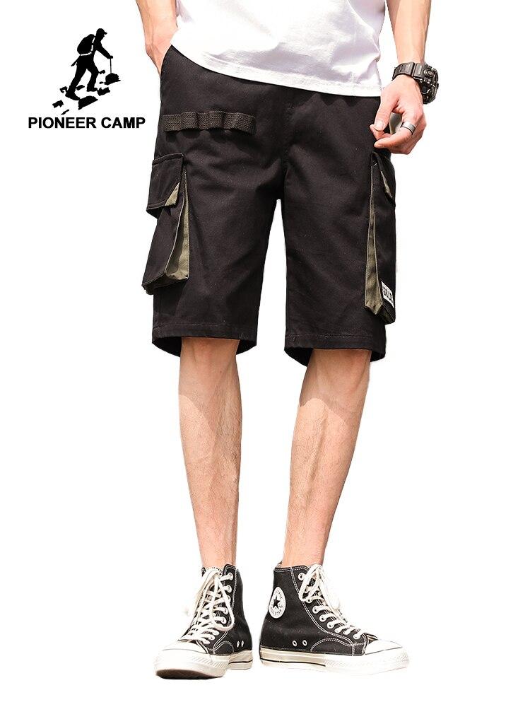 Мужские шорты-карго Pioneer Camp, повседневные хлопковые шорты с карманами, 2019