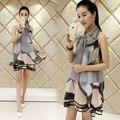 Южной кореи последнее лето беременным органзы жилет печатных платья большой ярдов беременные женщины одеваются одежда для беременных
