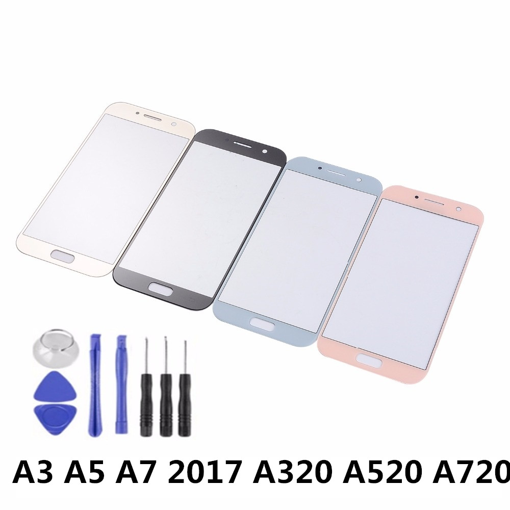 For Samsung Galaxy A3 A5 A7 2017 A320 A520 A720 Touch Screen Sensor LCD Display Digitizer Glass Cover With Adhesive+Tools