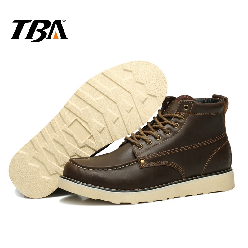 TBA Tactical Hiking Shoes Men Sneakers Climbing Mountain Genuine Leather Outdoor New Mens Shoes Vintage Boots Men Sport Sneakers 2017 tba men s shoes hunting mountain shoes lace up suede leather martin boots breathable outdoor hiking shoes t5983