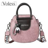VOLESS Luxury Handbag Women Bag Designer Crossbody Bags Leather Handbags Vintage Female Tote Bag Women Messenger Bags Sac A Main