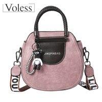VOLESS Luxury Handbag Women Bag Designer Crossbody Bags Leather Handbags Vintage Female Tote Bag Women Messenger Bags Sac A Main