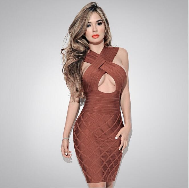 HAGEOFLY Hollow Out Sexy Bandage Dress Women Summer Dress 2017 Club Bodycon Party Dresses Celebrity Runway Club Elegant Vestido 2
