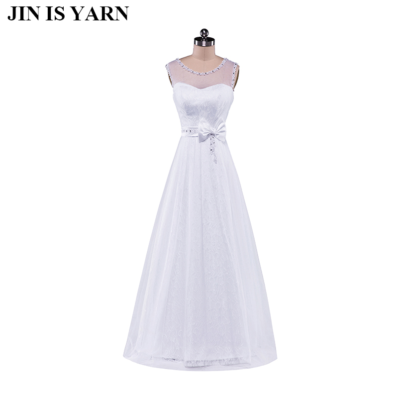 Free Shipping New 2015 fashion lace shoulder A word A word the bride married cultivate ones morality neat, white wedding dress