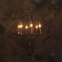 Vintage Chandelier Industrial Iron Hardware Edison Lamp Bar Loft Coffee Bar Restaurant Kitchen Pendant Lamps