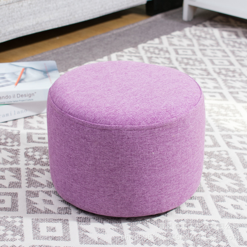Creative Stool Fashion Sofa Stool Fabric Stool Living Room Wood Frame Stool Small Bench Home Simple Child Seater creative stool solid wood fabric sofa coffee table stool home bench fashion wear shoe stool simple stool