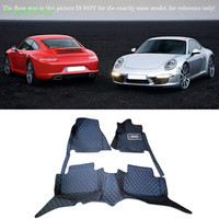 Interior Accessories Floor Mats Carpets Foot Pads Protecting Kit For Porsche 911 2012 2013 2014 2015