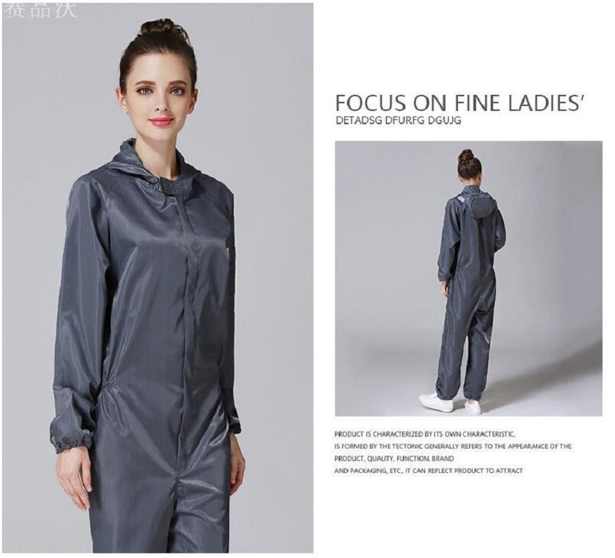 Men Women Anti-static Clothing Hooded Dust-proof Coveralls Cleanroom Garments Factory Clean Food Paint Work Protective Clothing