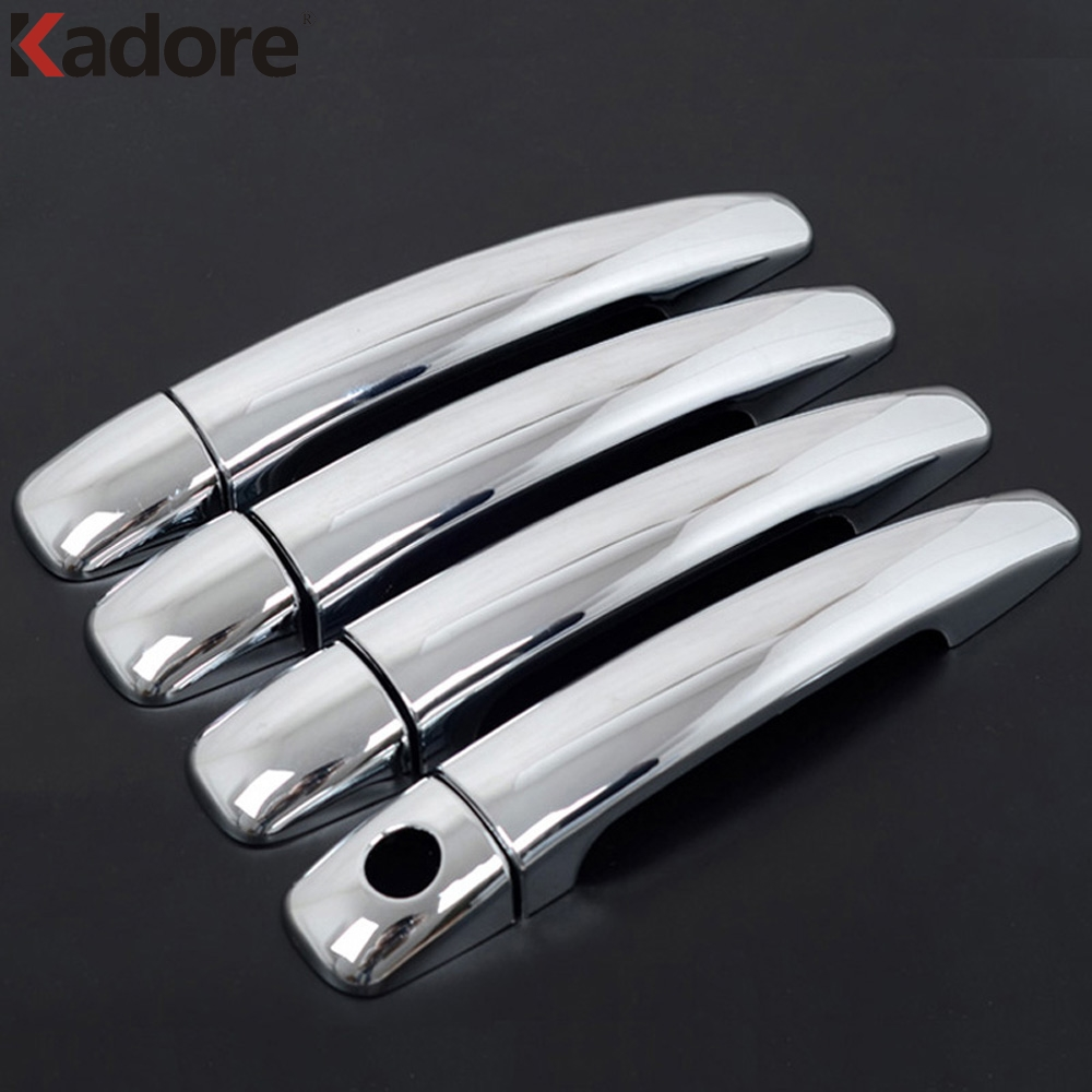 For Peugeot 408 Sedan ABS Chrome Auto Exterior Door Handle Catch Cover Trim Sticker Car Styling Accessories 8pcs/set