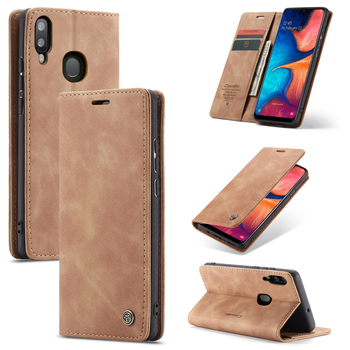 Galaxy A30 Case Leather Magnetic Wallet