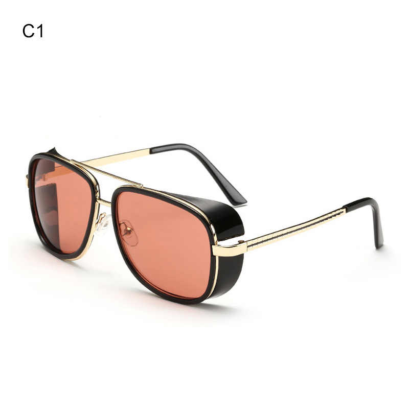 df6e39ec01 ... Iron Man 3 Male Steampunk Sunglasses Tony Stark Iron Man Matsuda Sunglasses  Retro Vintage Eyewear Steampunk ...