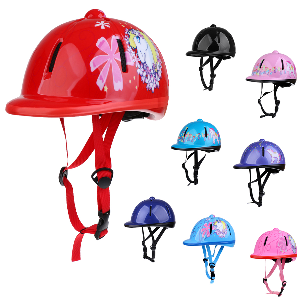 Adjustable Horse Riding Hat Ventilated Helmet Horse Riding Equipment Body Protectors For Kids Childs Toddlers PVC