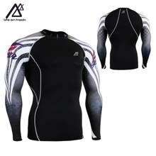 Men SKIN COMPRESSION Tights T-shirts Sport GYM Running MMA Base Layer Training Clothes Cycling Jerseys New Men Sportswear