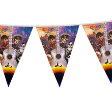 12pcs flags 2.7m length coco theme paper Flag Banner kids favors for child birthday party decorative 1 banner