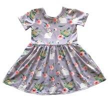 Горячая распродажа высокое качество хлопок детская одежда для девочек оптовая продажа маленьких ПАСХАЛЬНЫЕ ДНИ Бутик платье
