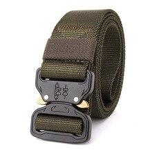 2018 tactical belt Hot Mens Tactical Belt Military Nylon Belt Outdoor multifunctional Training Belt Strap ceintures-3.8 x 125 CM magic velcro nylon bundling belt strap black 10 pcs 2 x 29cm