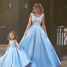 Matching Mother Daughter Clothes Dress Party Mom and Daughte