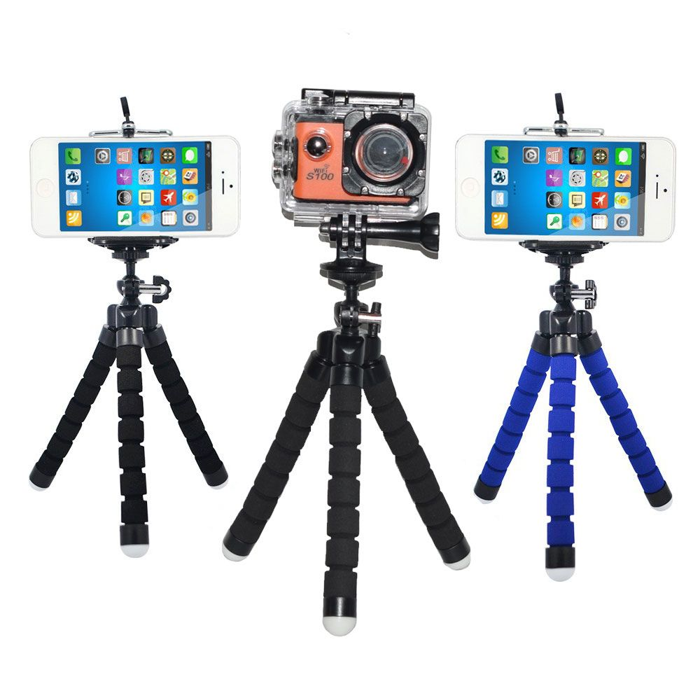 Sport Camera Phone Holder Flexible Octopus Tripod Bracket Stand Mount Monopod Styling Accessories for Mobile Phone Action CamSport Camera Phone Holder Flexible Octopus Tripod Bracket Stand Mount Monopod Styling Accessories for Mobile Phone Action Cam