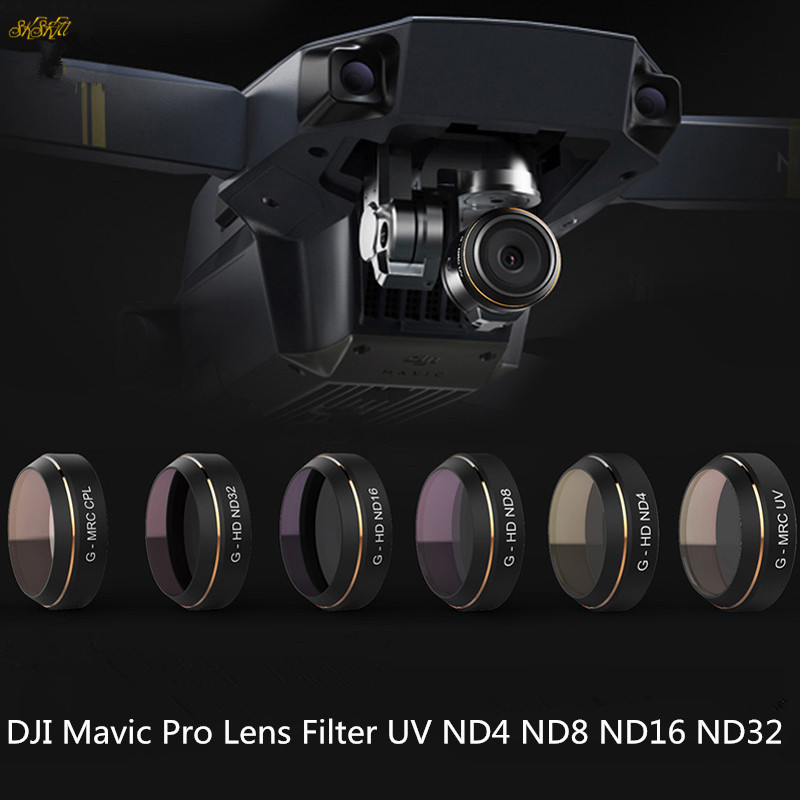 цена Mavic Pro Camera Lens Filter UV ND4 ND8 ND16 ND32 HD Filter for DJI Mavic Pro Drone Accessories